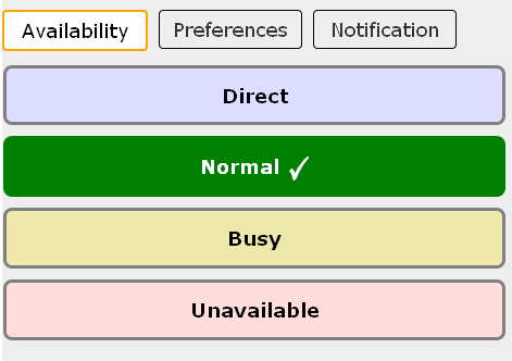 Availability screenshot
